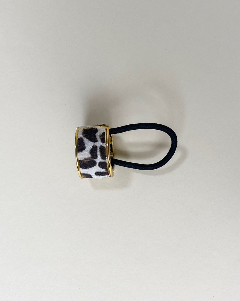 Accessories Grey Leopard Hair Bangle