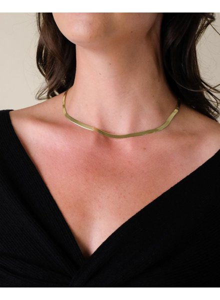 Gold Snake Around Chain Choker
