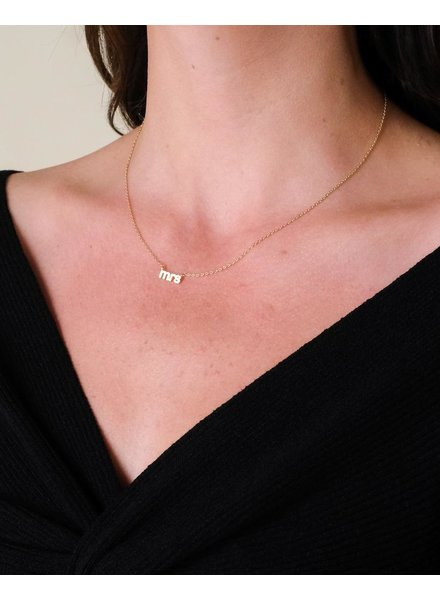 Gold Marry Me Necklace