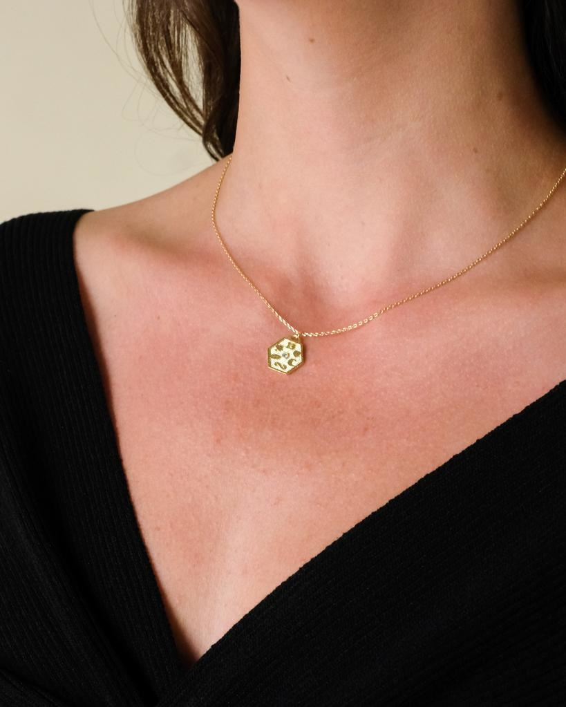 Gold A Girl Named Lucky Necklace
