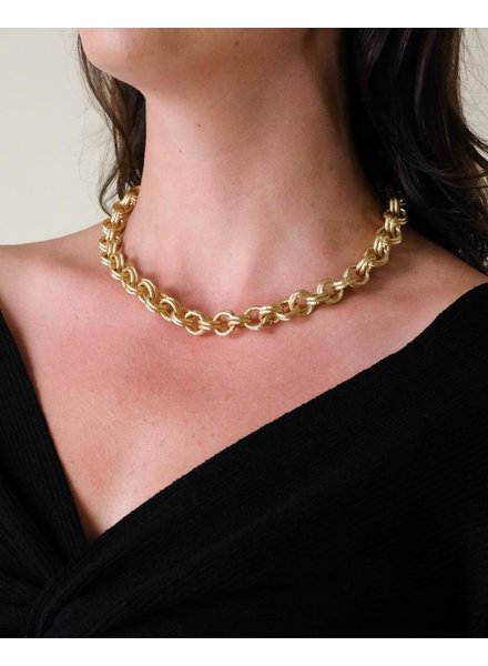 Gold Cassandra Link Necklace