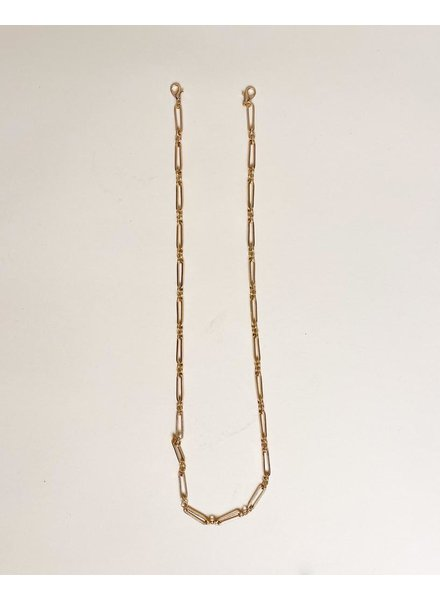 Accessories Gold Long Link Mask Chain