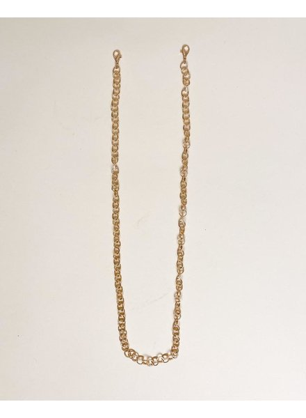 Accessories Gold Circle Link Mask Chain