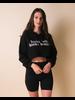 Sweatshirt Kinda Bad Kinda Boujie Cropped Hoodie