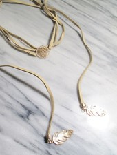 Choker Ivory dream catcher wrap choker
