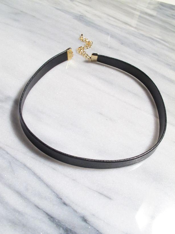 Choker Basic black leather choker