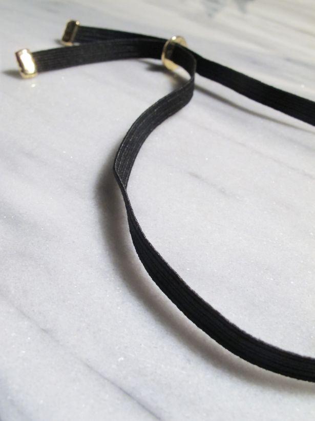 Choker Adjustable black choker