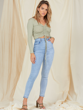 Knit Ready & Ruched Top