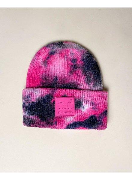 Hat Hot Pink Tie Dye Beanie