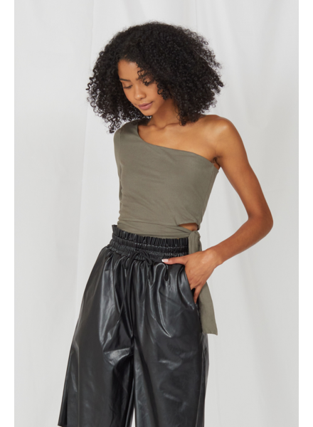 Crop One Sided Story Olive Crop