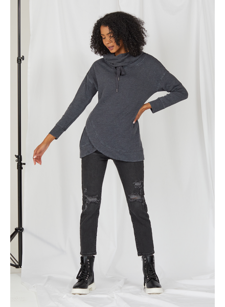 Sweatshirt Working It Washed Charcoal Sweatshirt