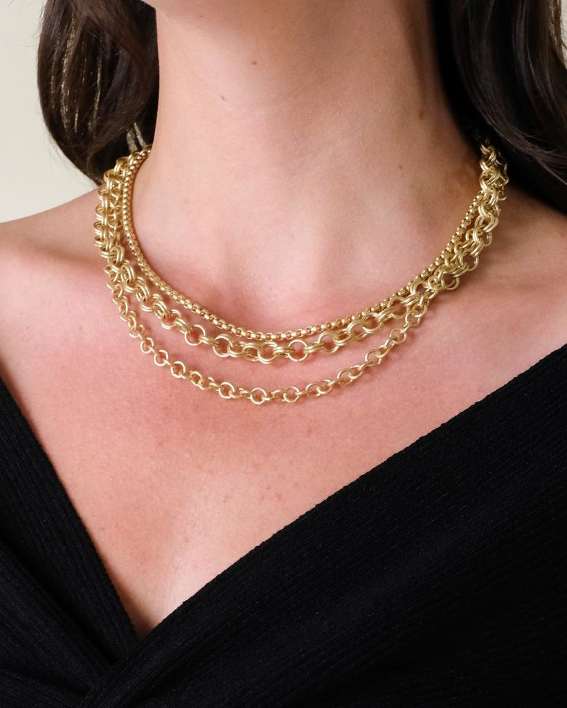 Gold Heidi Layered Necklace