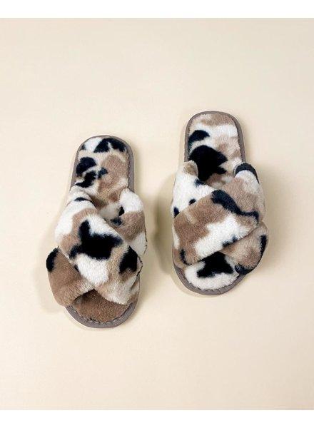 Flat Cozy In Camo Slippers