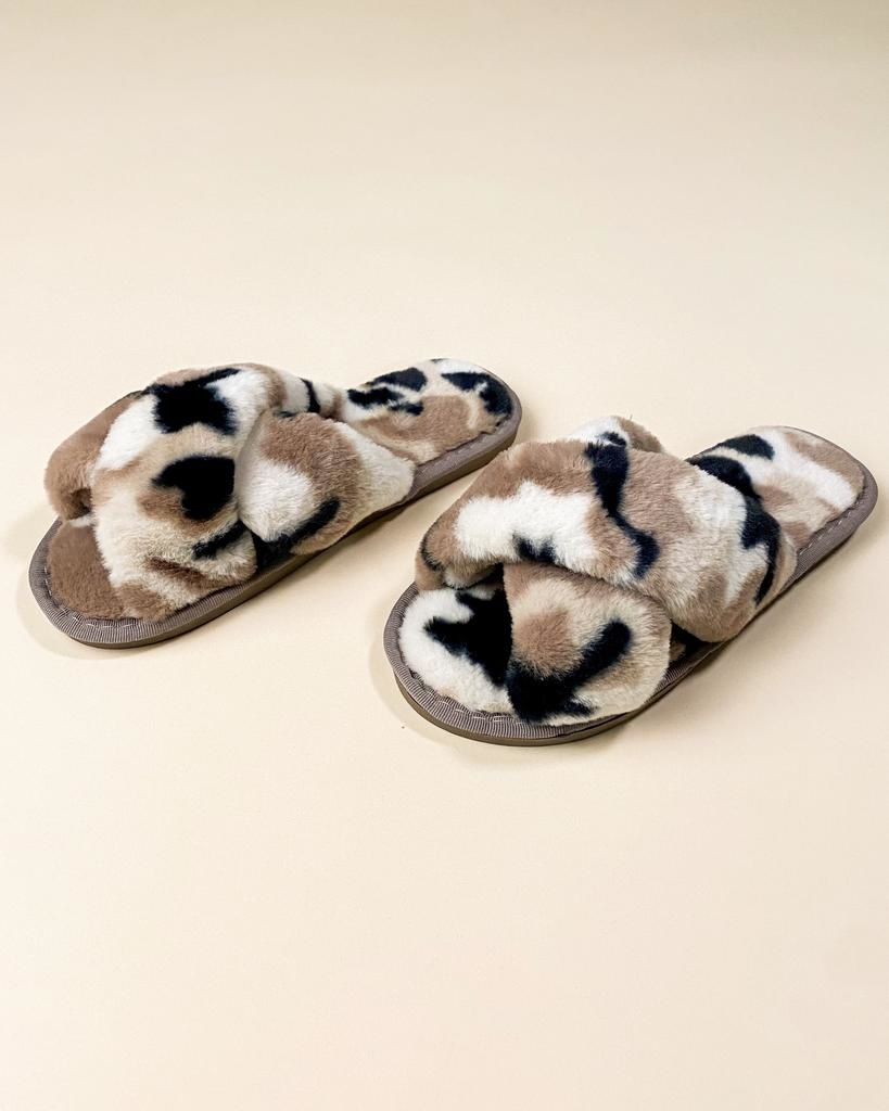 Flat Cozy In Camo Slippers
