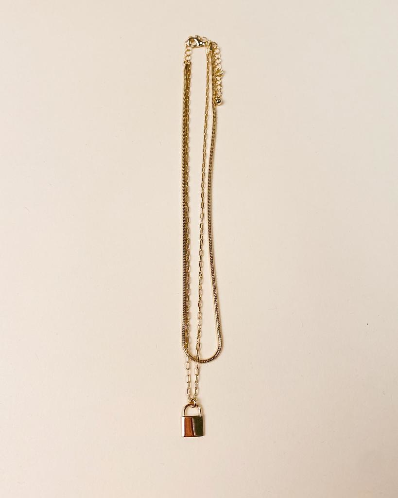 Gold Camilla Lock Necklace