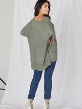 Sweater Olive Cuff Knit