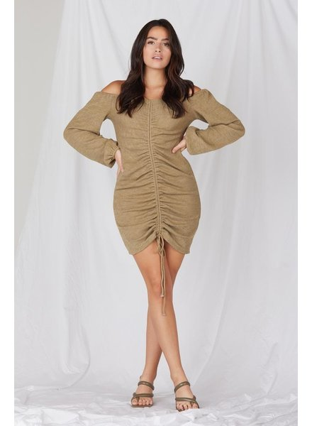 Mini Not Today Ruched Mini Dress