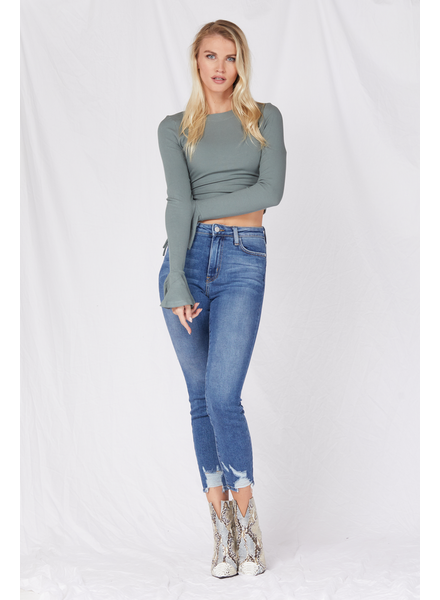 Jeans Medium Denim Hem Bite Skinny