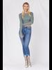 Jeans Medium Denim Hem Bite Skinny