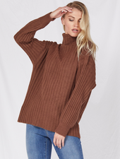 Sweater Call Me Cozy Turtleneck Knit