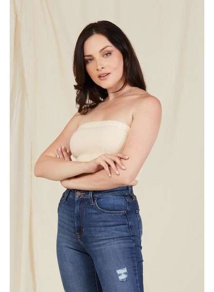 Crop Act Casual Tube Top