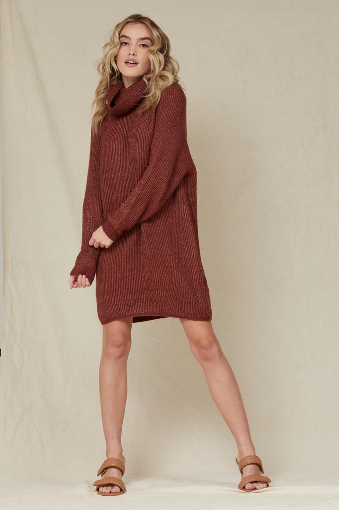 Mini Snuggled Up Sweater Dress
