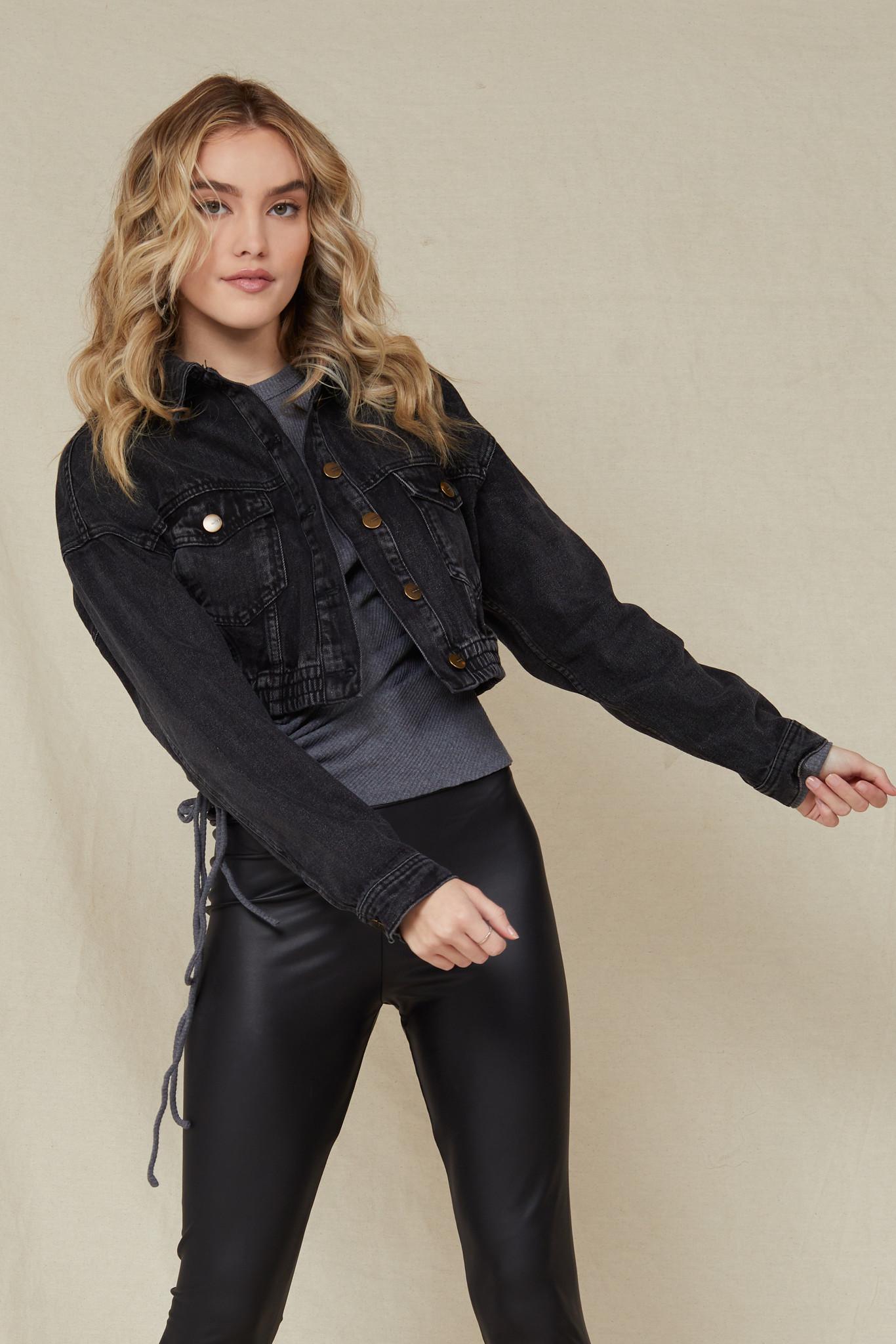 Lightweight Rumors Black Denim Jacket
