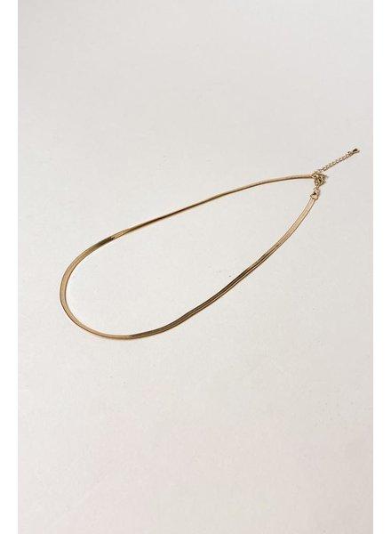 Gold Sleek Peak Snake Chain