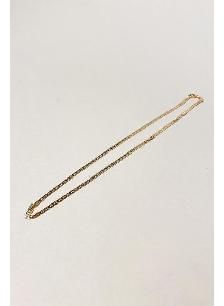 Gold Izzy Thin Chain Necklace