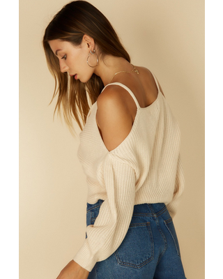 Sweater Giving You The Cold Shoulder Sweater