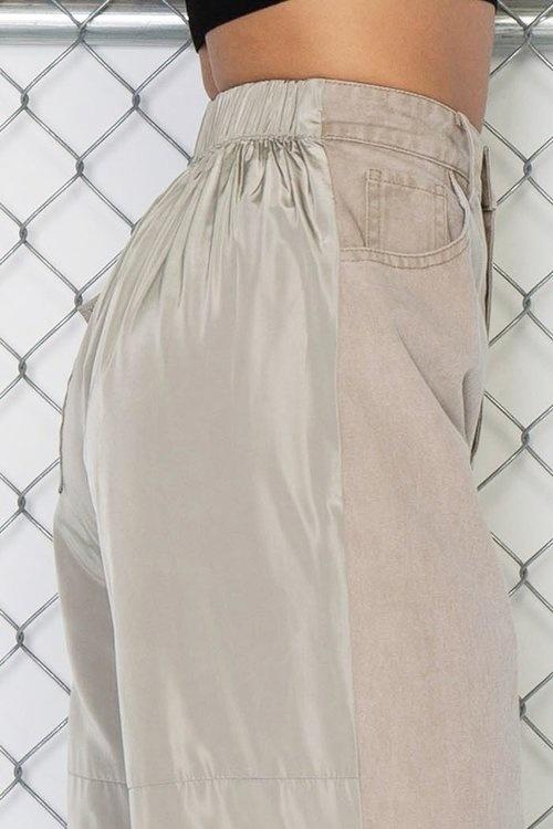 Pants In Contrast Denim Jogger