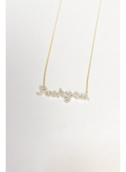 Silver All In My Feelings Necklace