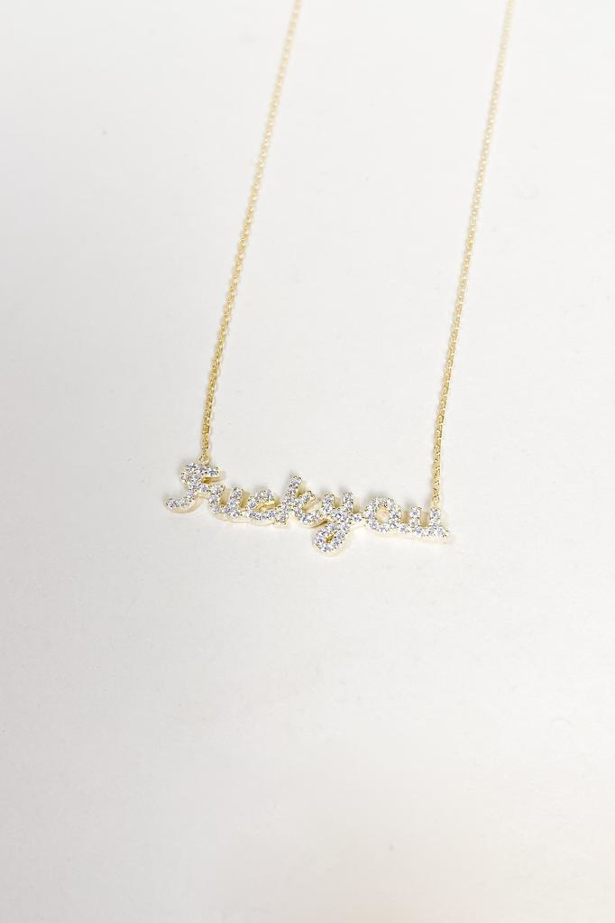 Silver All In My Feelings Necklace