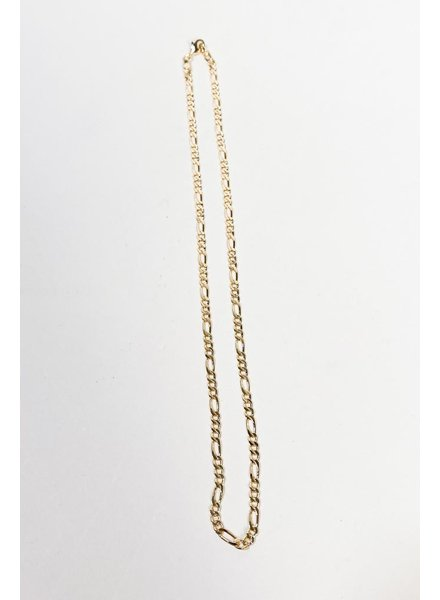 Sterling Heather Figaro Chain
