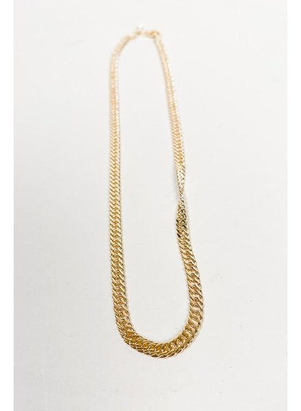 Sterling Lisa Curb Chain