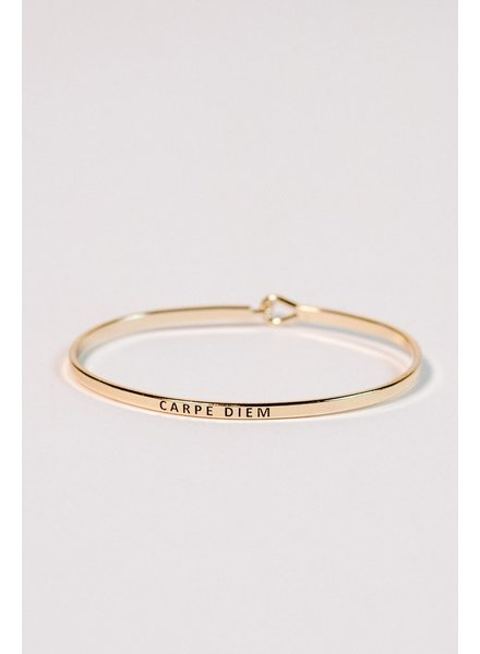 Gold Gold carpe diem bangle