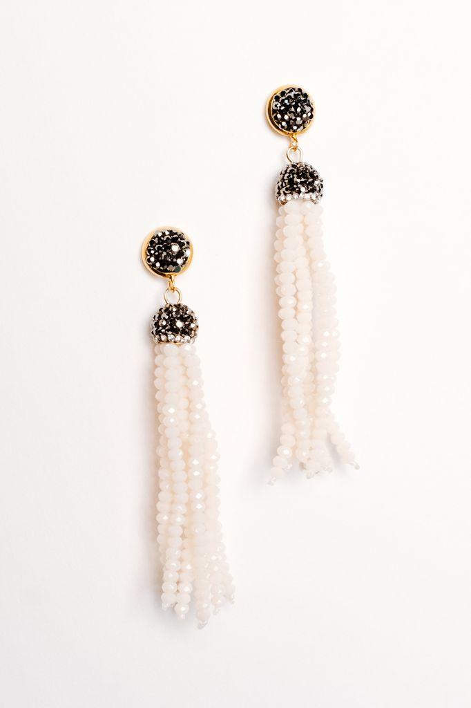 Trend Dressy beaded tassel earring