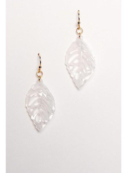 Gold Leaf dangle earring