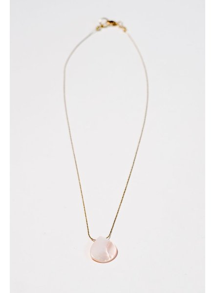 Gold Blush teardrop pendant