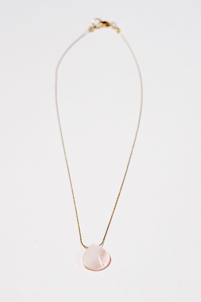 Gold Blush teardrop pendant