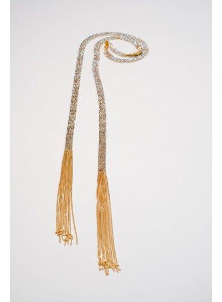 Choker Embellished wrap necklace