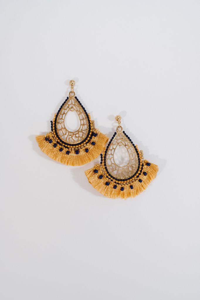 Trend Beaded fringe earrings