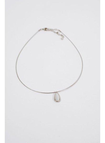 Choker Faux pearl wire choker