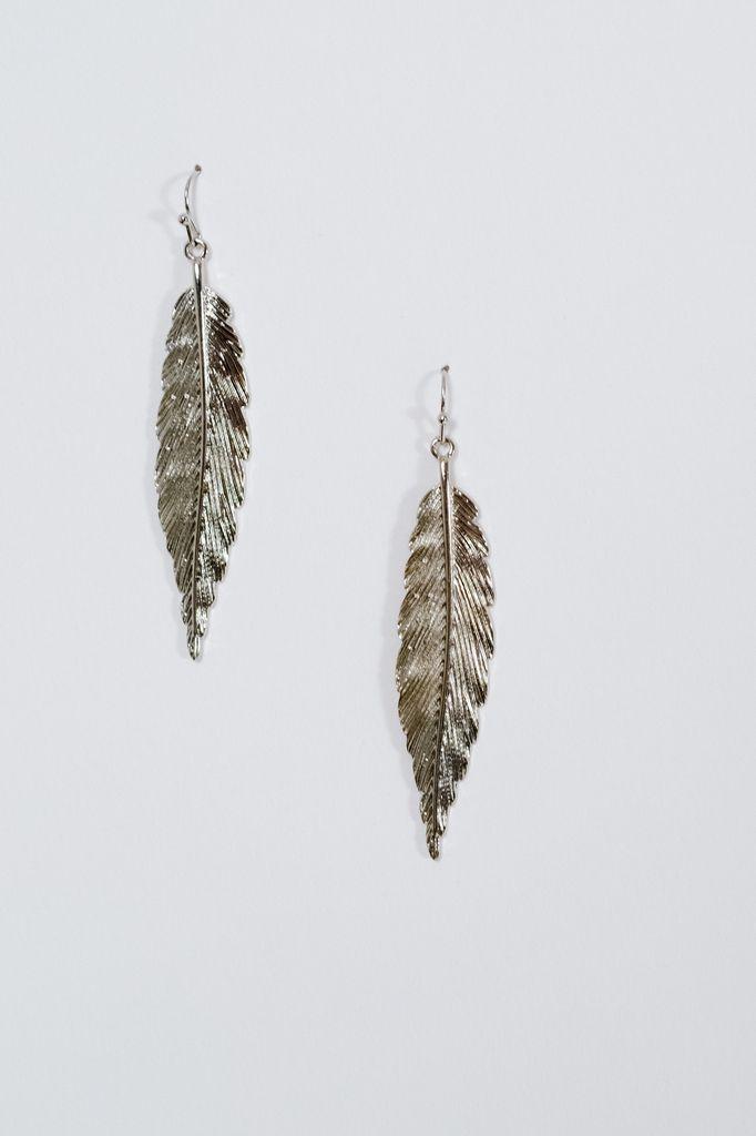Silver Silver feather earrings