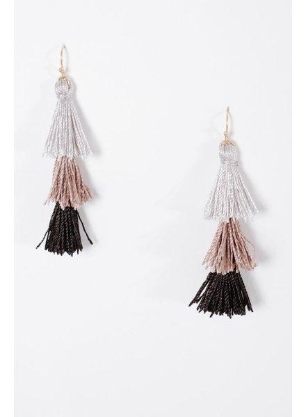Trend 3 tier tassel earrings