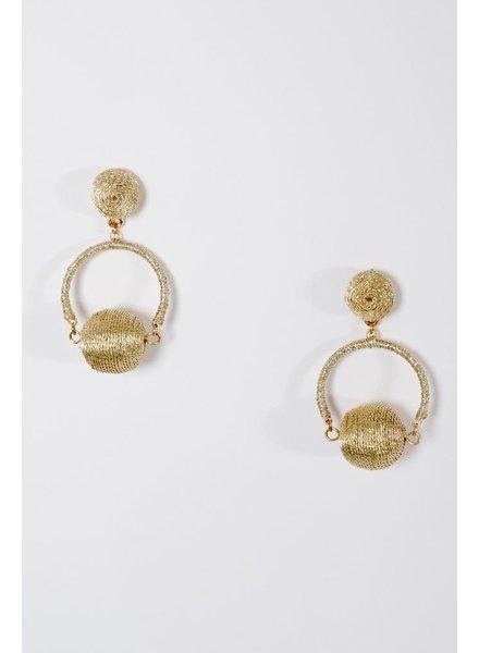 Trend Double swing ball earrings
