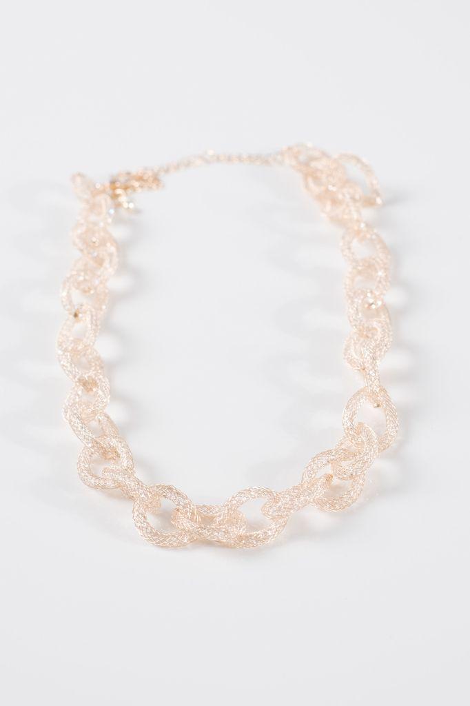 Dressy Gold mesh link necklace