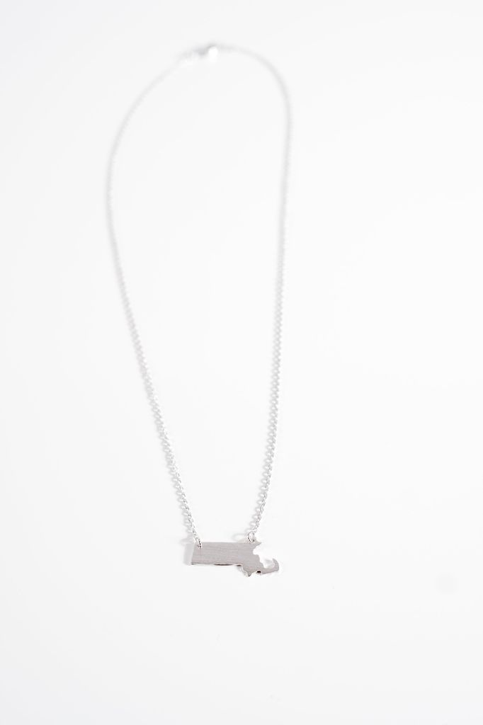 Silver Massachusetts silvertone necklace