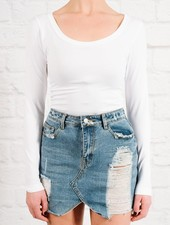 T-shirt White seamless basic