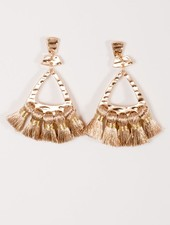 Trend Metallic rose gold thread earrings
